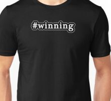 Winning - Hashtag - Black & White Unisex T-Shirt