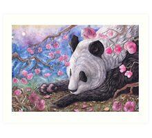 Lazy Panda Art Print