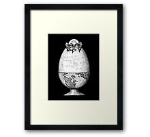Coming out of Shell surreal pen ink black and white drawing Framed Print