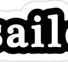Sailor - Hashtag - Black & White Sticker