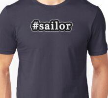 Sailor - Hashtag - Black & White Unisex T-Shirt