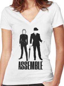 The Original Avengers Assemble Women's Fitted V-Neck T-Shirt
