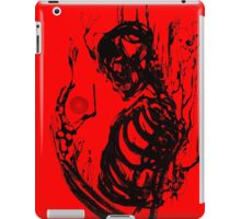 Black Ink Skeleton Red iPad Case/Skin