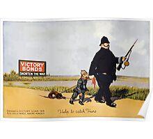 Help to catch Huns Victory Bonds shorten the war Poster
