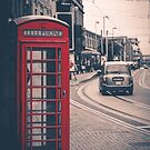 Red English telephone box by Jose Vazquez