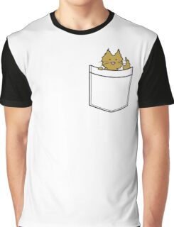 Ginger Cat in Your Pocket Graphic T-Shirt