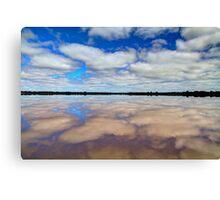 """Pink Lake Reflections"" Canvas Print"