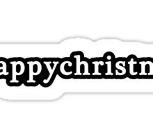 Happy Christmas - Hashtag - Black & White Sticker