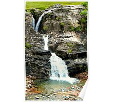 Glencoe Waterfall Poster