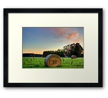 Colorful Fields Framed Print