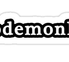 Code Monkey - Hashtag - Black & White Sticker