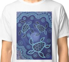 Aboriginal Art Authentic - Sea Turtles Classic T-Shirt