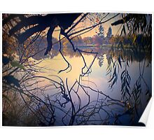 Autumn Tones, Lake Weeroona Poster