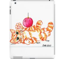 2013 Holiday ATC 20 - Kitten Playing with Ornament iPad Case/Skin