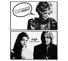 When Effie is the Rumbelle fandom. Photographic Print