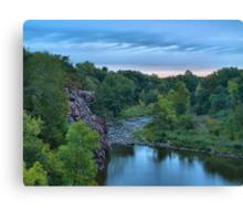 Cloudy Sunrise Over Split Rock Creek Canvas Print