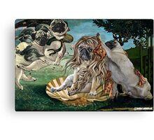 The Birth of Venus Pug Canvas Print