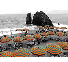 Beach Umbrellas Photographic Print