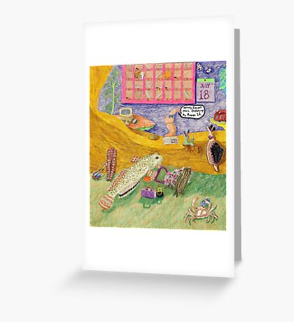 The Innkeeper And The Bellhop Greeting Card