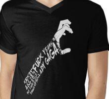 Put Yours Paws Up! (Black) Mens V-Neck T-Shirt