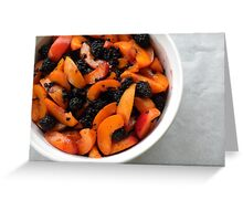 Apricots and Blackberries for Cobbler  Greeting Card