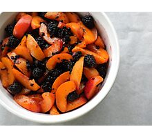 Apricots and Blackberries for Cobbler  Photographic Print