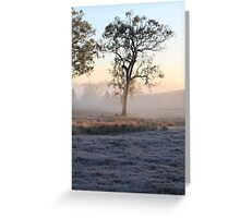 A Frosty Morn Greeting Card