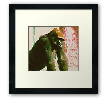 Furry Monkey Framed Print