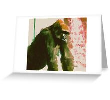 Furry Monkey Greeting Card