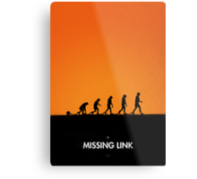 99 steps of progress - Missing link Metal Print