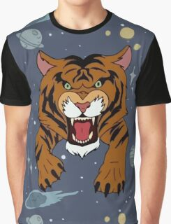 Tiger Jean Jacket Graphic T-Shirt