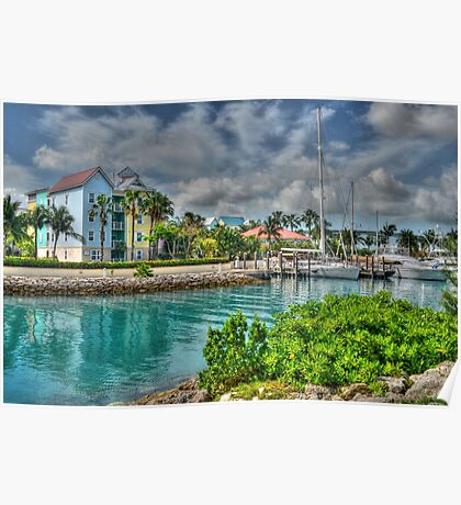 Harbour Village in Paradise Island, Nassau, The Bahamas Poster