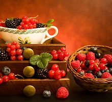 Still Life With Berries by Corina Daniela Obertas