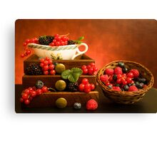 Still Life With Berries Canvas Print