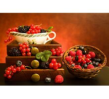 Still Life With Berries Photographic Print
