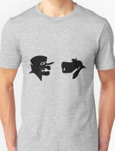 Dick Dastardly and Muttley Silhouette Unisex T-Shirt