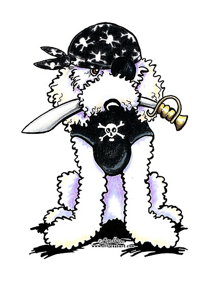 Poodle Pirate by offleashart