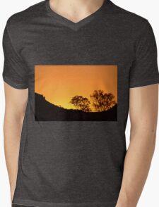 Orange Sky Mens V-Neck T-Shirt