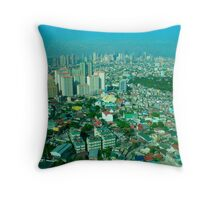 shapes and patterns of a city Throw Pillow