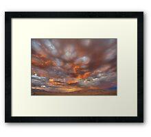 Drama Sunset Framed Print