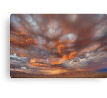 Drama Sunset Canvas Print