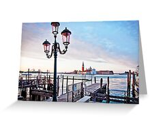 Sunrise in Venice II Greeting Card