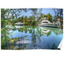 Peaceful River Scenery in Nassau, The Bahamas Poster