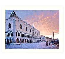 Sunrise in Venice III Art Print