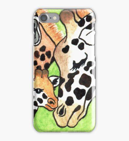 2013 Holiday ATC 19 - Holiday Giraffes iPhone Case/Skin
