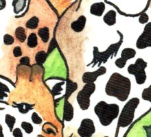 2013 Holiday ATC 19 - Holiday Giraffes Sticker