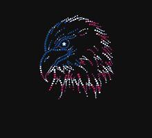 American Patriotic Dots Eagle Flag T-Shirt Long Sleeve T-Shirt