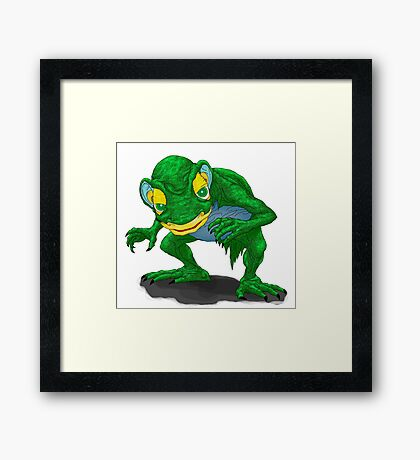 Gollum is here! Framed Print