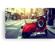 Urban Vespa Canvas Print
