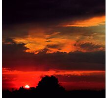Brilliant Sunset Hues Photographic Print
